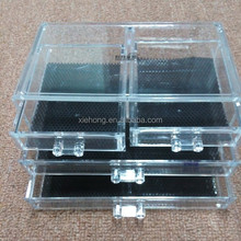 Acrylic take away container plastic box, 4 drawers plastic storage box
