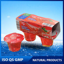 Strawberry gel snack