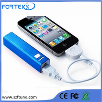 Mini 2600mah Lipstick-sized High Capacity Portable Charger External Battery Power Bank