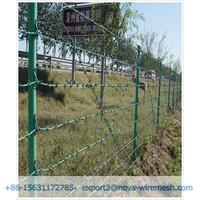 Barbed wire fence for the protection of prison and key project.