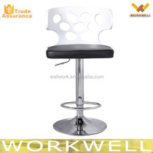 WorkWell wooden bar chair/bar stools/barstool with chrome footrest kw-B2367