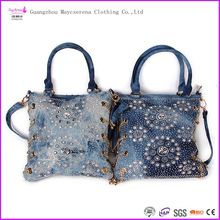New fashion long strap small bag/woman bags/jeans handbags made in china