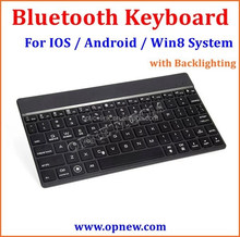 Universal Wireless bluetooth Keyboard for Laptops & Tablets, Compatible with IOS, Android, andWin8 Systems with backlighting