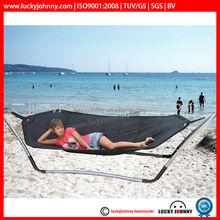 single person hammock oxford 600D with steel stand seabeach hammock/garden hammock