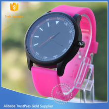 2015 custom alloy case silicone watches from China watch factory