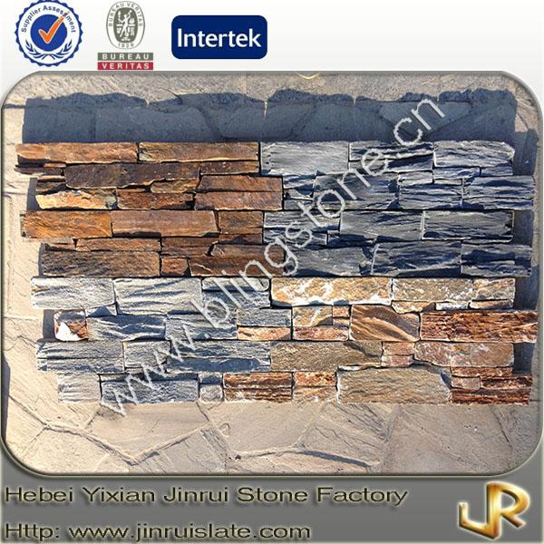 Paneles decorativos de piedra de pizarra natural cimentar - Paneles de piedra natural ...