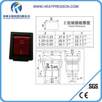 high quality push on push off switch for heat press
