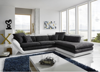 Elegant shape stylish fabric sofa with adjustable headrest, living room sofa furniture