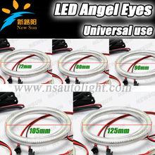 2014 Newest model universal 3014 SMD led angel eyes halo rings 72mm 80mm 90mm 105mm 120mm 125mm, 8000K pure white SMD led lamp