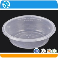 wholesale clear round plastic food container with lid