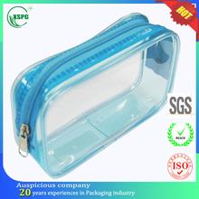 Dry cleaning pvc zipper top makeup brush roll bag