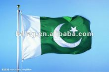 Hight quality 3X5ft 300D polyester Pakistan National Flag