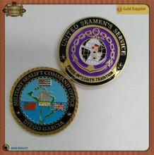 Custom Metal Coin, Badge Emblem With Soft Enamel Coloring
