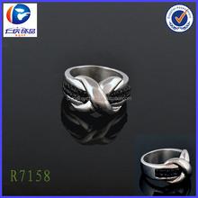 Stainless steel diamond design cross ring alibaba China Area wholesale