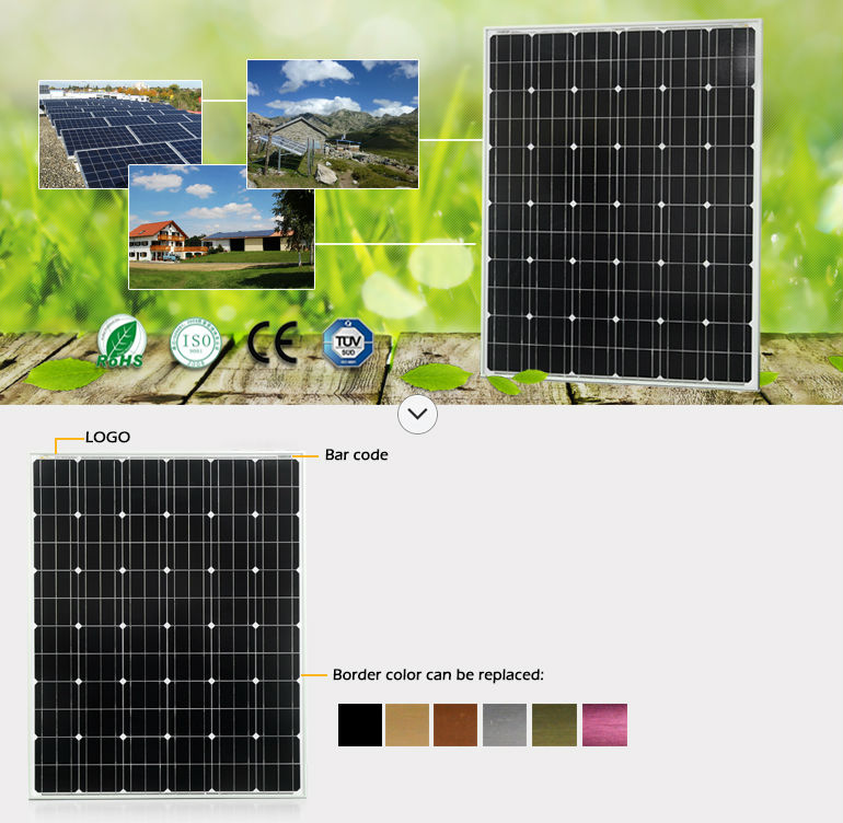 Sungold mono solar panels 200w made of Germany mono solar cells