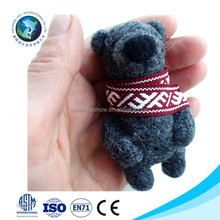 Fashion new type cute soft felt animal toy ICTI bear toy type handmade wool felt animal
