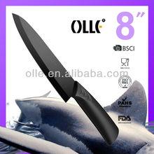 200mm Black Fast Food Kitchen Knife