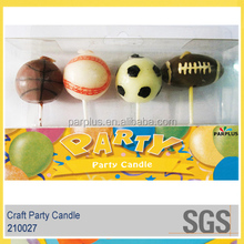 Baseball, Basketball, Football and Rugby Shaped Craft Candles for Boys