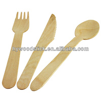 160mm novelty disposable wooden names of cutlery set items