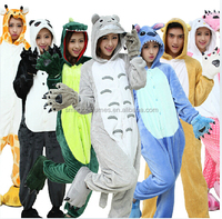 super soft cheap wholesale adult animal hooded onesie