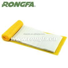 White color PE plastic coated garbage/trash/ice bag gang ties