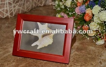 Red wooden picture frame(2012 New Design) Hot Sale