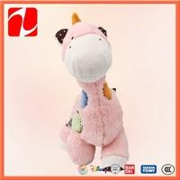 Cartoon pink and white baby toy mini plush giraffe