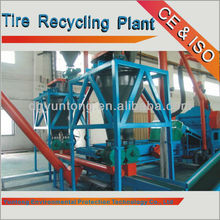 High-efficiency used waste tire recycling machine to oil pyrolysis plant , 2015 the latest environmental protection equipment