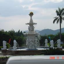 Decorative outdoor waterfall fountain stone buddha garden fountain