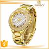 2015 beautiful IP Gold plating thin diamond case and band luxury watch,jewelry watch,ring watch