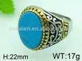 anillo de piedra grande de los diseños para las mujeres anillo de piedra azul