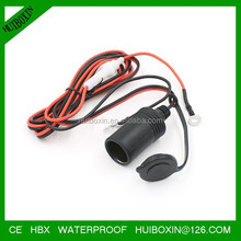 12V Car Motorbike Tractor Boat Cigarette Lighter Socket Cable Adaptor With Clip