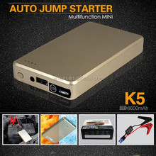 New Products 2015 Portable Peak 6600mAh 12V Mini Multi-function Compact Battery Jump Starter