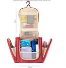 2015 promocional moda Hanging rolo Up de higiene pessoal lona cetim PU viagens PVC Cosmetic Bag
