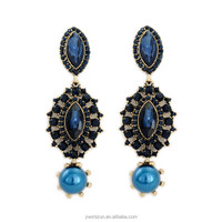 2015 New Design Fashion Pendant Bohemia Tassels Blue Earring For women Wholesale