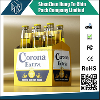 Drop shipping packaging company produce cardboard 6 pack bottle beer carriers