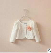 C64331A Spring children cardigan lace flower small coat