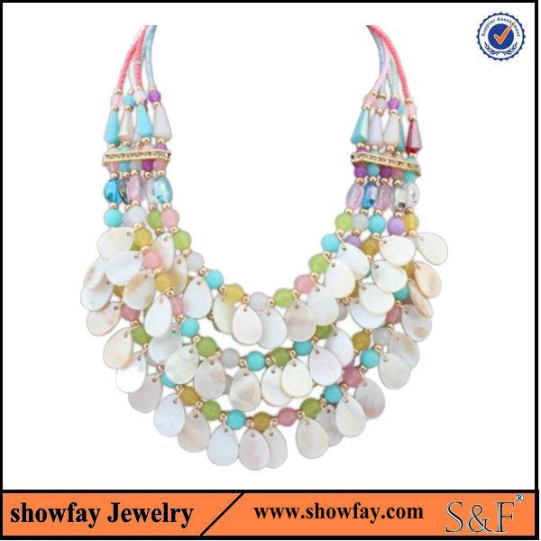 2015 New Genuine oem statement Jewelry popular bead necklace designs