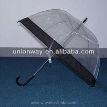 fashion straight transparent bubble pvc umbrella