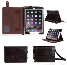 2015 new product carrying case with shoulder strap zipperfor ipad air 2