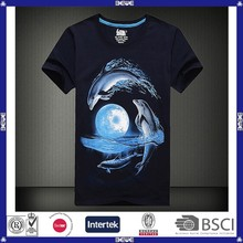 OEM custom logo various color good price and quality plain sublimation polyester t-shirt