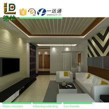 Casa de diseño de wpc madera plástico stretch techo suspendido azulejo