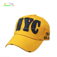 Washed vintage 5 panel felt applique embroidery logo unstructured cycling baseball cap custom headwear polo hat