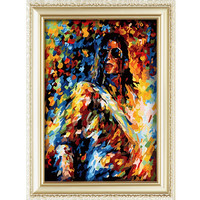 Abstract human figure 2015 Michael Jefferson handmade digital oil painting