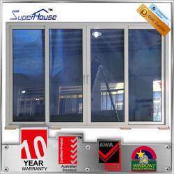 Australia standard lowes tempered glazing soundproof stacking sliding glass door for living room