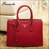 2015 Christmas gift present custom cross pattern genuine leather bag for TV promotional