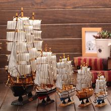 HG Homeart 0216 wooden sailboat model 14 16 20 24 30 50 60cm Mediterranean-style craft ornaments