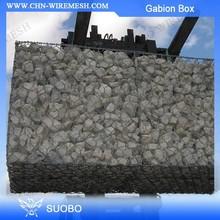 Hot sale PVC coated or Galvanized gabion stone basket/gabion ring plier/gabion box prices