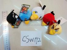Keychain stuffed 8cm hanging bird plush / animal bird soft plush keychain