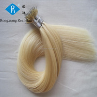 Wholesale 100% Human Blonde Italian Keratin nano bead hair extension